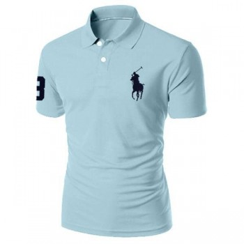 Men's polo shirt sky