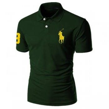 Men's polo shirt green
