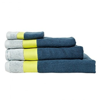 Designer dark turquoise contrast header towel