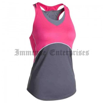 Pink stretch women's tank top