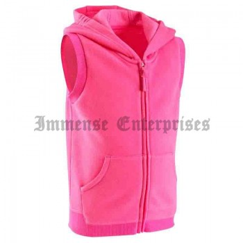 Sleeveless, hooded jacket