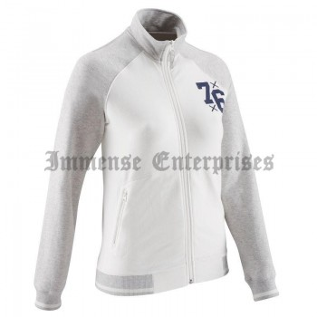 Jacket white gray