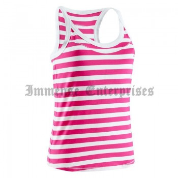 Women's tank top pink & white