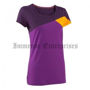 TechFresh Speed Women's Hiking T-Shirt Purple & Orange