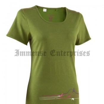 TechTil Women's Hiking T-Shirt Birds Green