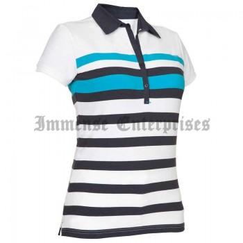Polo White Stripes