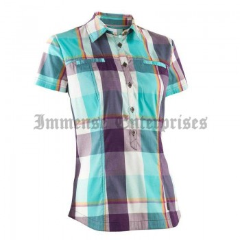 Arpenaz 400 shirt blue & purple