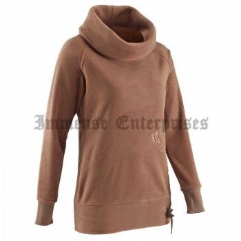 Fleece sweatshirt brown