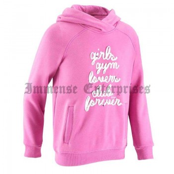 Hooded sweater pink