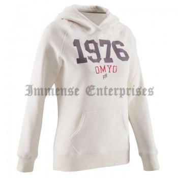 Hooded sweatshirt light gray