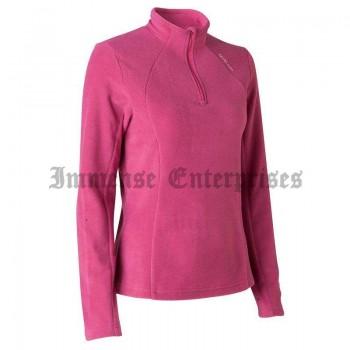 Women's Hiking Fleece top,Dark Pink