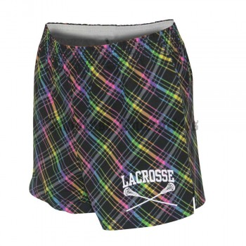 Girls Lacrosse Short by Soffe Athletics - Neon Plaid