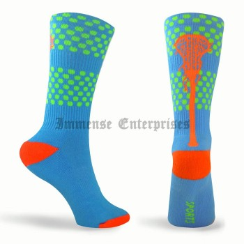 Tropic Neon Series Lacrosse Socks (Blue, Green, Orange)