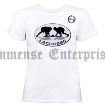 Girls Lacrosse tees white