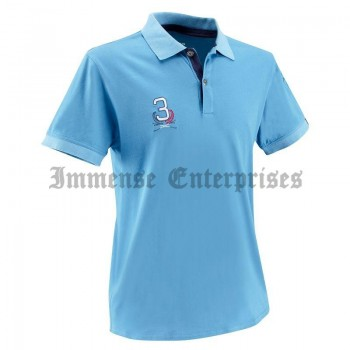 blue SCHOOLING Polo Riding Top