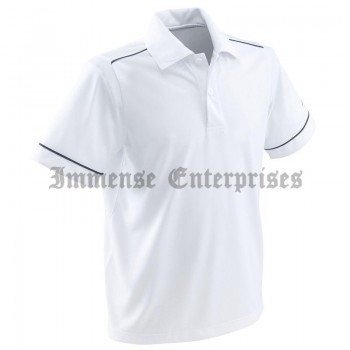WHITE 700 BOY TENNIS POLO SHIRT