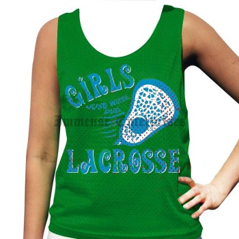 Girls Just Wanna Play Lacrosse Pinnie