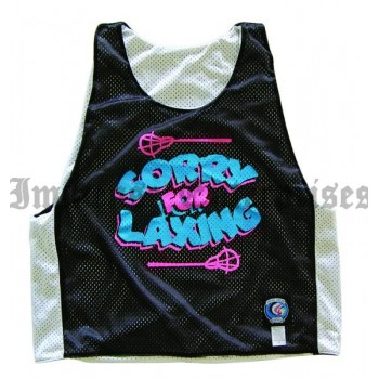 Sorry For Laxing Lacrosse Pinnie Reversible